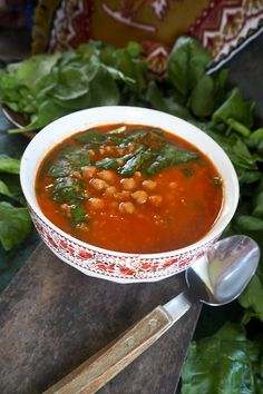 Rajcatova polevka s cizrnou a spenatem Salsa, Mexican, Ethnic Recipes, Salsa Music, Mexicans