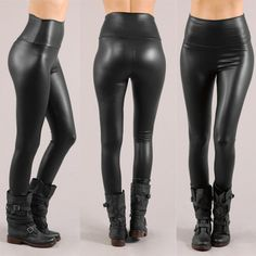 Faux Leather Leggings, Leather Pants, Leather Skirts, Fall Fashion Skirts, Fashion Outfits, Female Action Poses, Cyberpunk Fashion, Dance Outfits, Work Outfits