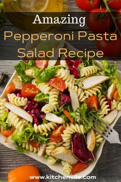 Pepperoni Pasta Salad Recipe, Quick and Easy Pepperoni pasta salad for vegans. It is a simple and tasty dinner meal for kids. recipes with pepperoni/ pepperoni salad/ easy salad recipes/ pepperoni recipes dinners/ pepperoni cheese Salad Recipes For Dinner, Easy Salad Recipes, Easy Salads, Vegan Recipes, Pepperoni Pasta Salads, Pepperoni Recipes, Dinner Meal, Salad Ingredients, Vegans