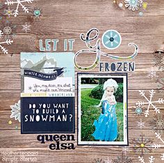 Layout by design team member Heather Leopard featuring the Snow Fun Collection