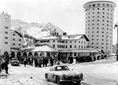 Sestriere, Italy in February.     The iconic Fiat tower makes this ski resort instantly recognisable.