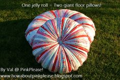 Jelly Roll Floor Pillows @ Moda
