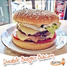 Κάποιοι λένε πως είναι το καλύτερο , κάποιοι πως είναι το πιο χορταστικό και κάποιοι δεν βλέπουν την ώρα να φάνε το επόμενο...Double Burger Bacon🍔 ☎️2310.632180 💻 www.krepatown.gr 📍 Μιχαήλ Καραολή 20, Συκιές #krepatown #Συκιές #Νεάπολη #Πολίχνη #yummy #delicious #delivery #skgfood #thessaloniki