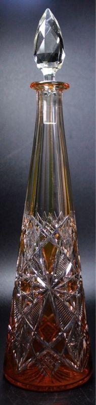alte Saint Louis Kristall Stöpselkaraffe 40,5cm hoch