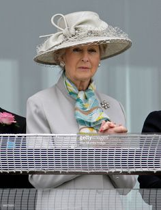 (EMBARGOED FOR PUBLICATION IN UK NEWSPAPERS UNTIL 48 HOURS AFTER CREATE DATE AND TIME) HRH Princess Alexandra of Kent watches the racing from the balcony of the Royal box during the Epsom Derby Festivalat Epsom Racecourse on June 6, 2009 in Epsom, England. (Photo by Indigo/Getty Images)
