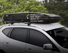 The Thule Rooftop Cargo Box, Alpine carrier offers the additional space you need for  your next road trip!