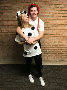 Firefighter and dalmation couples Halloween costume