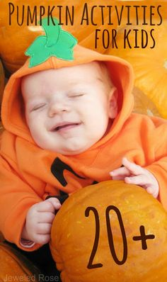 Nothing says Fall quite like pumpkins and these FUN activities capture this season staple perfectly. Over 20 pumpkin activities for kids including science, art, play recipes, sensory activities & MORE!