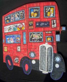 Mosaic bus for Birmingham Children's Hospital by Amanda Anderson and Johanna Potter