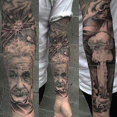 Einstein quality tattoo
