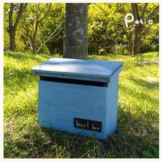 アンティークウッドポスト Mailbox, Patio, Outdoor Decor, Home Decor, Products, Wood, Mail Drop Box, Decoration Home, Room Decor
