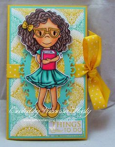The Paper Nest Dolls Challenge Blog: Maddy with Glasses Notebook #vannessahasty