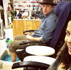 Channing Tatum and Jenna Dewan-Tatum get pedis together // cute couple alert