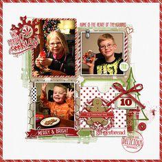Gingerbread Cookies - Digital Scrapbook Ideas at #designerdigitals #gingerbread #Christmas