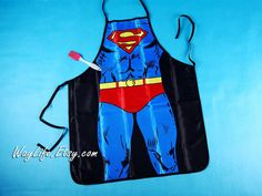 Hey, I found this really awesome Etsy listing at https://www.etsy.com/listing/247307162/superman-aprons-sexy-kitchen-apron-funny