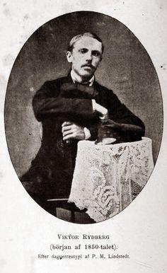 Viktor Rydberg i början av 1850-talet, långt innan genombrottet.