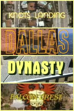 The four classic primetime soaps from the 80's that I was addicted to growing up.  I actually preferred Dynasty and Falcon Crest over Dallas and Knots Landing but got hooked on all 4 of them at some point along the way - LOL