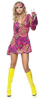FANCY DRESS COSTUME 1960/'S PINK POP SERGEANT SM