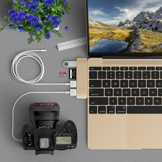Amazon.com: USB C 3.1 Hub Adapter for 12 inch Macbook Pro 2016 13 inch 15 inch,5 in 1 Multiport USB Dongle 3.0 Type A Port Micro SD Memory Card Reader (GOLD): http://amzn.to/2ulAf4e