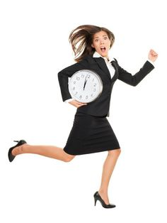 Stress - business woman running late with clock under her arm. Business concept photo with young businesswoman in a hurry running against time. Caucasian / Chinese Asian isolated on white background in full length. Running Late, Running Women, Woman Running, What Is Like, You Got This, Fight Or Flight Response, Executive Woman, Always Late, Third Way
