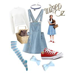 """Modern DIY Dorthy costume"" by ichelle-montoya on Polyvore featuring T By Alexander Wang, MANGO, Converse and modern"