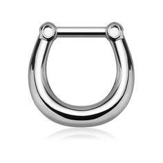 One surgical stainless steel septum clicker ring in basic style and solid color. Top clicker bar is 16 gauge mm) thick. Septum Clicker, Septum Ring, Keep Jewelry, Body Jewelry, Cleaning Silver Jewelry, Basic Style, 316l Stainless Steel, Punk, Chain