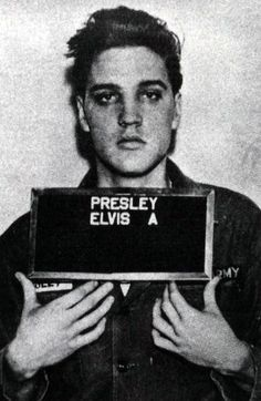 Elvis Presley's mugshot