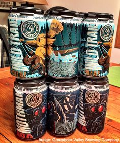 First canned craft beers from West Virginia. At least one brewery in every state plus Washington DC is now canning their beer.