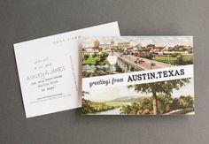 Austin, Texas Save the Date // by The Nouveau Romantics // Austin Wedding Planning and Event Design Studio // photo by Heather Curiel
