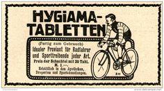 Original-Werbung/Anzeige 1911 - HYGIAMA- TABLETTEN ca. 90 x 45 mm