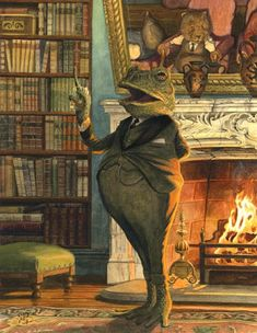 "Chris Dunn Illustration/Fine Art: September 2013 ""The Orator"" Art And Illustration, Book Illustrations, Chris Dunn, Art Fantaisiste, Frog Art, Fantasy Kunst, Fantastic Art, Whimsical Art, Graphic"