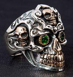 mexican sugar skull rings