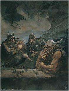 The Hobbit concept art by John Howe