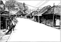 つげ義春 - 福島県横川 昭和46年5月Yoshiharu Tsuge - Yokokawa, Fukushima, May. 1971 (via)