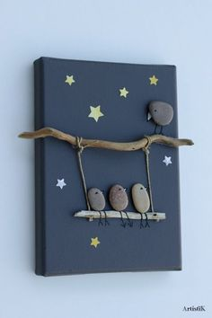 nature crafts for kids ; easy nature crafts for kids ; nature crafts for kids preschool ; nature crafts for kids summer ; nature arts and crafts for kids Stone Crafts, Rock Crafts, Fun Crafts, Diy And Crafts, Nature Crafts, Modern Crafts, Crafts With Rocks, Twig Crafts, Diy Home Decor Projects
