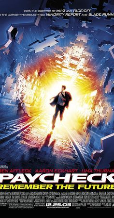 Directed by John Woo.  With Ben Affleck, Aaron Eckhart, Uma Thurman, Michael C. Hall. What seemed like a breezy idea for an engineer to net him millions of dollars, leaves him on the run for his life and piecing together why he's being chased.