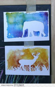 DIY: Watercolor Silhouette | Pretty Prudent