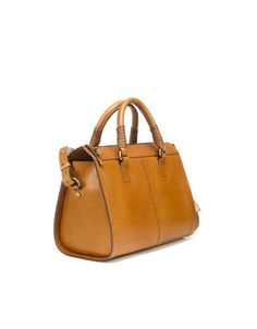 BOWLING BAG WITH PLAITED HANDLE - Hand bags - Handbags - Woman - ZARA United Kingdom