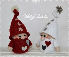 In this free crochet tutorial, you can learn how to crochet this adorable amigurumi gnome in amigurumi! This sweet amigurumi gnome is sure to bring a smile to any face! This amigurumi cutie is a wonderful seasonal decoration . Crochet Santa, Christmas Crochet Patterns, Holiday Crochet, Free Crochet, Crochet Crafts, Crochet Dolls, Crochet Projects, Christmas Gnome, Christmas Crafts