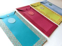 Colorful envelopes #red #blue #green
