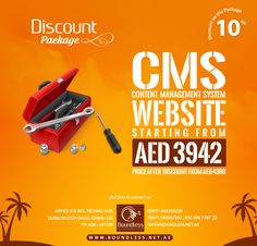 #Bumper #Discount #Offer 10% OFF on CMS based #website #Dubai  Our #Professional #WebDevelopers and #Graphic #Designers Team will turn your eyesight into a Reality. We are here to find out your Goals and requirements and Help to drive you through the #WebDesign Process.  Phone No: +971-043350229 +971-569367267, 056 406 7797 PO BOX: 341320      info@boundless.net.ae