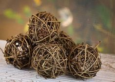 "Rattan Woven Balls 2"" 12 for 5.99 1 for $0.50"
