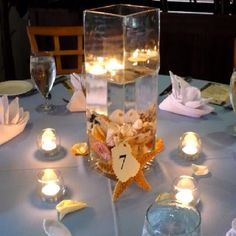 Non floral beach themed centerpieces