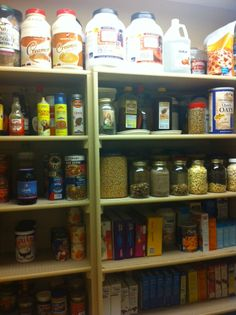 Pantry painted and organized, for once!