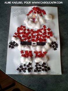 pere-noel-avec-boule pere-noel-with-ball # Christmas Activities For Kids, Toddler Christmas, Kindergarten Christmas, Christmas Makes, Kids Christmas, Theme Noel, Xmas Crafts, Preschool Crafts, Christmas Decorations