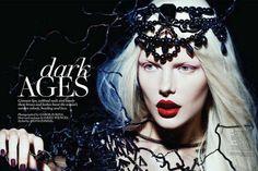 Disturbing Couture Editorials - The Dansk 'Circus Humanus' Photoshoot Stars an Eerie Maria Bradley (GALLERY)