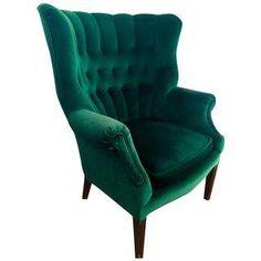 Vintage Emerald Green Armchair | Chairish | $175 + $375 shipping
