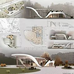 Awesome project by ⤵ Tag to share your works Concept Board Architecture, Architecture Presentation Board, Pavilion Architecture, Landscape Architecture Design, Futuristic Architecture, Architecture Diagrams, Rendering Architecture, Presentation Board Design, Building Design
