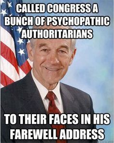 Ron Paul, he should have been our new President. America blew it.