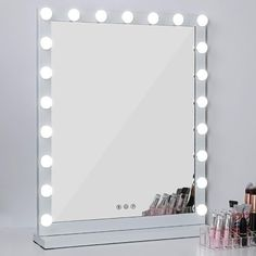 New MRah Lighted Makeup Vanity Mirror 3 Color Modes Tabletops Lighted Mirror LED Illuminated Cosmetic Mirror 21 LED Dimmable Bulbs 25 Makeup Vanity Lighting, Makeup Mirror With Lights, Bathroom Lighting, Ikea Makeup Vanity, Led Makeup Mirror, Makeup Vanities, Lighted Vanity Mirror, Mirror 3, Light Up Mirror Vanity